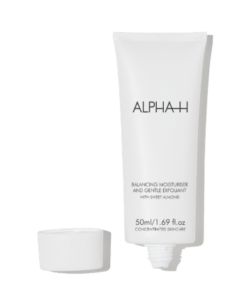 Balancing-Moisturiser-and-Gentle-Exfoliant-lid-off