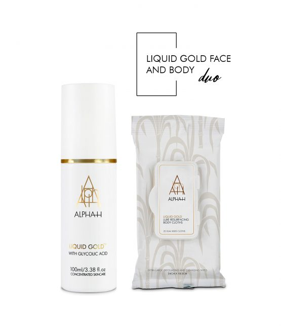 Liquid Gold Face and Body Duo